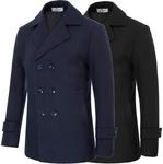 Men's Slim Fit Long Sleeve Lapel Collar Double Breasted Coat (65% off, USD $20.86 from $59.59 Delivered) @ Paul Jones