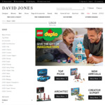 25% off LEGO at David Jones (Free Delivery if You Spend $100 or More)