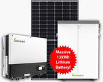 6.6kW (Jinko) Solar System with 2x6.5kWh Growatt Lithium Batteries Installed for $4990 (SA Only) @ Sunterra Solar