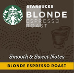 20% off: Starbucks by Nespresso Capsules Varieties, $5 Per Sleeve (10 Capsules) @ Coles