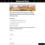 Win a USA Adventure for 2 Worth $10,718 from Universal Store/Wrangler