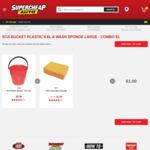 9.6L Bucket & Sponge Combo $1 (Was $5.38) @ Supercheap Auto