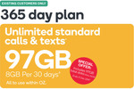 Kogan Mobile Small 365 Day Plan 97GB, Existing Customers $164.20 @ Kogan