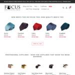 50% off All Ties & Cufflinks Storewide (Ties $15, Cufflinks $10), Free Shipping for $40+ Order @ Focus Ties