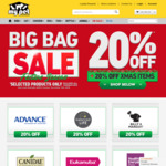 20% off Big Food Bags (MFM $111, Savourlife $71, etc) & Christmas Items + Free Delivery Over $49 @ My Pet Warehouse