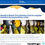 [BF] Free Holiday Club for Eligible Families during Bushfire Crisis