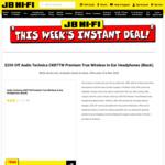 Audio Technica CKR7TW Premium True Wireless in-Ear Headphones (Black) $99 (Was $349) @ JB Hi-Fi