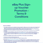 $10/ $20 Voucher upon Sign-up to Free 30 Day Trial of eBay Plus @ eBay