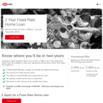 HSBC - 2 Yr Fixed Rate Home Loan - 2.09% P.a Interest Rate, 2.98% P.a Comparison Rate