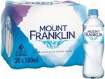 Mount Franklin Still Water 20 x 500mL $7/$6.30 (S&S) + Shipping ($0 Prime/$39 Spend) @ Amazon