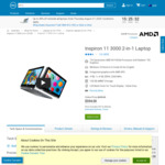 Inspiron 11 3000 2-in-1 Laptop A9 4 128GB $284.04 @ Dell Australia