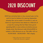 20% off All Online Orders for The Month of September (Minimum $20 Spend) @ Schnitz