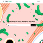 Unlimited $0 Delivery Fee on Orders over $20 for 30 Days @ Uber Eats