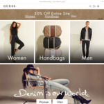 30% off Full Priced Items @ GUESS Australia