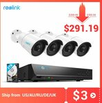 Reolink RLK8-410B4 8CH 5MP Security Camera System 4X Cameras US$320.31(Was US$439.99) ~AU$439.38 @ AliExpress Reolink