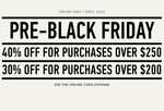 40% off Full Priced Items over $250 @ Mango (MNG)