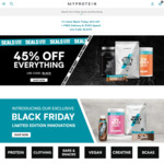 Black Friday Sale | MyProtein - 45% off + Delivery ($0 with $150 Order)