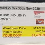 "Sony Bravia 55"" X90H $1499, Philips XXL Airfryer $379.99 @ Costco (Membership Required)"