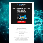 Win a $1,000 VISA Gift Card & Product Pack from AlphaCell Labs