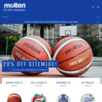 20% off Sitewide (Basketballs starting at $11.96 Delivered) @ Molten Australia