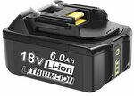 MAK-18B-Li 18V 6.0Ah Li-Ion Battery (Makita BL1860 Compatible) US$24.99 (~A$32.25) Delivered from AU Warehouse @ Banggood