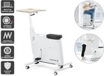[Kogan First] Fortis Home & Office Exercise Bike with Height Adjustable Desk (White) $129 + Delivery @ Kogan