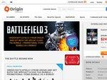 Origin Store 50% off Storewide Battlefield 3 $24.99