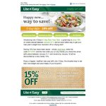 15% off Lite'n'Easy Online Orders with code NY1315%