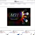 OzBargain Exclusive: MEElectronics Earphones M9P - US$10.99, M6 - US$12.99, M31 - US$12.99 + Shipping