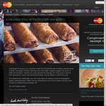 Free Sausage Roll (Save $4.50) When Paying >$15 by MasterCard @ Bourke Street Bakery [SYD]