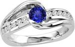 Get Flat 10% OFF on 0.45 Carat Round Tanzanite Ring - $642.50 + Free Shipping - TopTanzanite.com