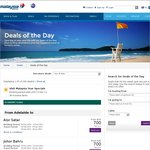 Malaysia Airlines Sale - Jan to Jun 2014 - eg $632 Ade to KL Return