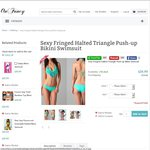 Save up to 50% - Fringed Triangle Bikini Drop $12.50 Free Shipping (Was $75) @ Onfancy.com