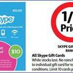 HALF PRICE SKYPE Gift Cards at Coles (Starts 2/7)