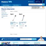 Dyson DC35 $299 Save $98 DC44 $388 Save $60 @ Masters Home Improvement