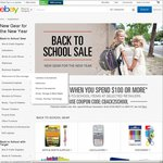 $20 off $100 Spend on eBay from Officeworks, Target & Dell
