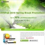30% off on DVDFab DVD/Bluray Copy, Video Converter, PC Backup