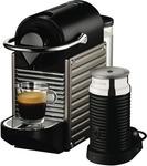 Nespresso Breville Pixie - Titan $149 (after $70 Cashback) @ The Good Guys
