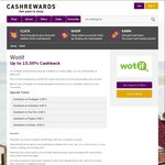 OzBargain 10th Birthday: 15% Cashback on Every Hotel Booking Worldwide Via Wotif @ Cashrewards (21 Hours Only)