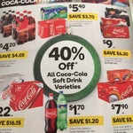 40% off All Coca-Cola Soft Drink Varieties at Woolworths