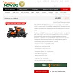 Husqvarna TS246 Ride on Mower, Now $4200 (Save $599), Pickup in-Store Only VIC @ Hastings Mowers