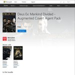 [XB1/PS4/PC] Deus Ex: Mankind Divided Augmented Covert Agent Pack DLC - Free (+ 3x Free Digital Books)