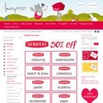50% off Derwent Pencils at LarryPOST