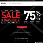 2XU Sale - up to 75% off Clothing (Brisbane Town Hall)