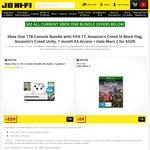 Xbox One S 1TB + Halo Wars 2 + FIFA 17 + AC Unity + AC BF + 1MTH EA Access  $329 + P&H @ JB Hi-Fi