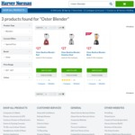Oster 1.25L Blender $27 (Was $59-$199) @ Harvey Norman Super Saturday 19th August
