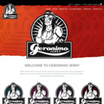 Take 50% off 40g Bags Jerky: $3.25 each (Was $6.50) Plus Postage $8.25+ (10 Bags) @ Geronimo Jerky