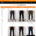 All Chinos $29.99 + Free DHL Shipping over $50 @ Hallensteins