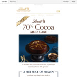 Free Slice of Chocolate Mud Cake with Hot Drink Purchase @ Lindt Café