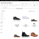 50% off Second Item When Buying Selected Full-Priced Men's Footwear and Accessories @ David Jones Online